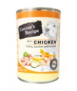 Canine's Recipe Chicken, Turkey, Zucchini & Pumpkin with Salmon Oil 400 gm
