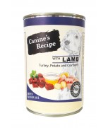 Canine's Recipe Lamb, Turkey, Potato & Cranberry with Salmon Oil 400 gm