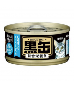 Aixia Kuro-can Mini Tuna and Skipjack Tuna with Whitebait 80g