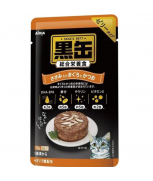 Aixia Kuro-Can Pouch Tuna & Skipjack Tuna With Chicken Fillet Cat Food 70g