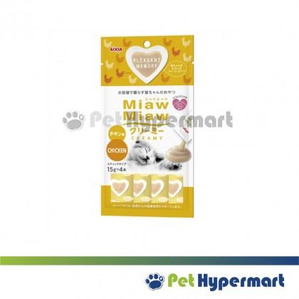Mix - Aixia Miaw Miaw Creamy Cat Treats 60g (15g x 4)