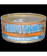 Natural Balance Chicken & Liver Paté Canned Cat Formula 5.5 oz