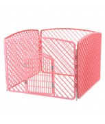 Pet Playpen (Fence) 100cm x 100cm x 75cm H (Pink)