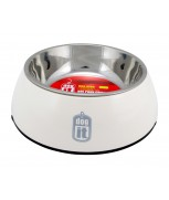 Hagen Dogit 2-in-1 Dog Dish, Small-Blue/White/Black/Pink. Holds 350 mL (11.8 fl oz)